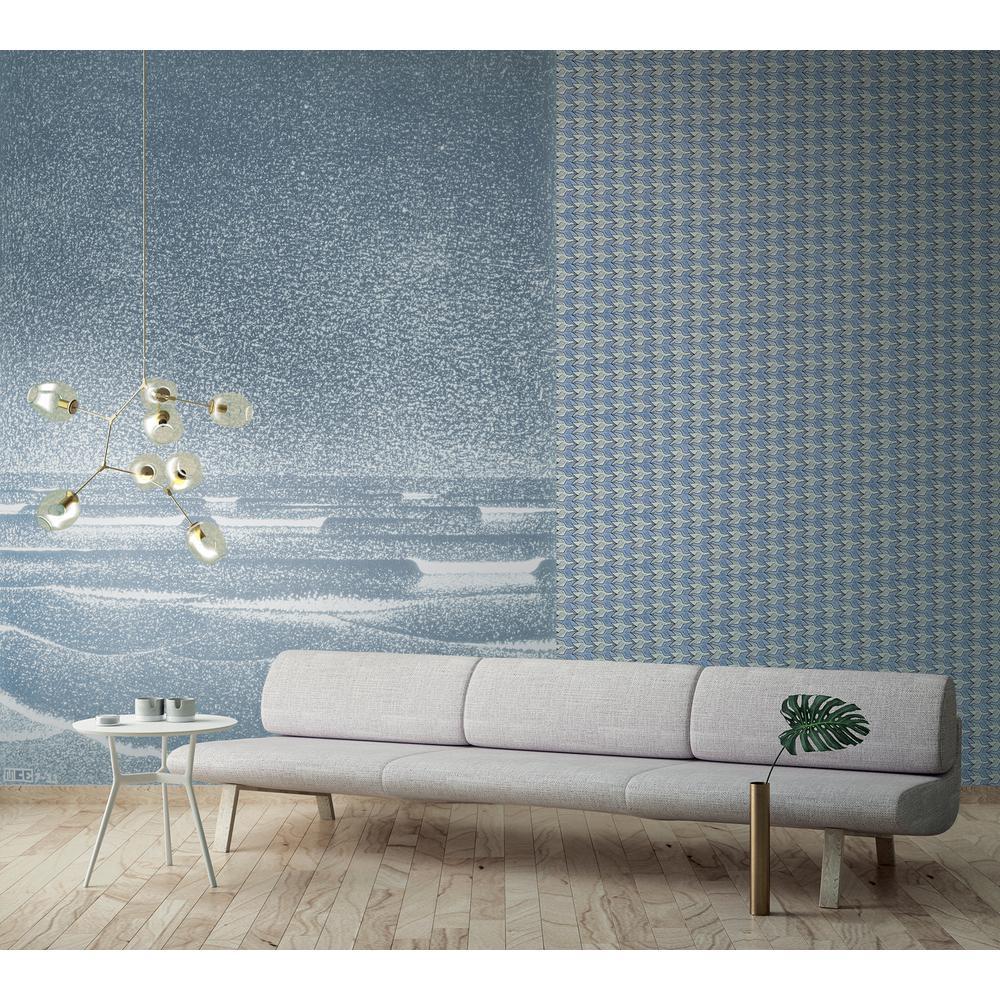Alyssa Light Blue Birds Wallpaper Sample