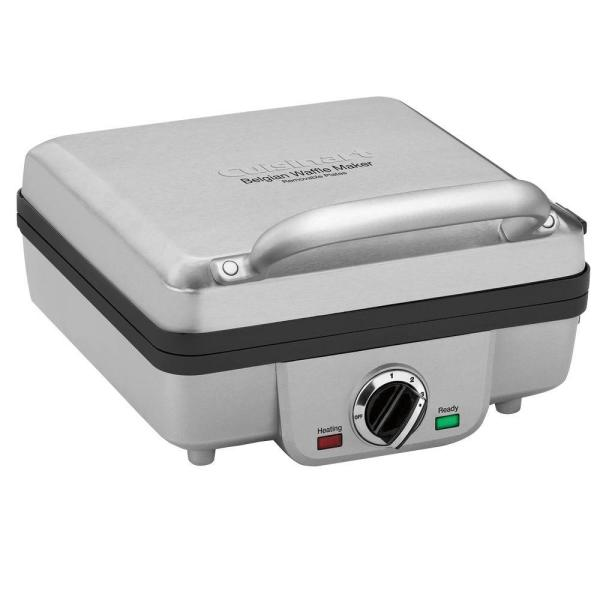 Cuisinart 4-Waffle Stainless Steel Belgian Waffle Maker with Recipe Book WAF300