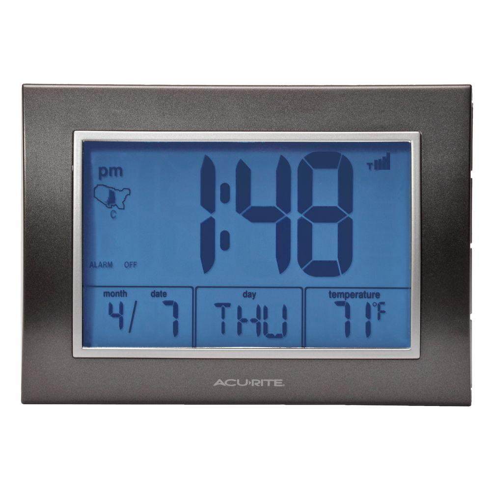 AcuRite 5 in. x 7 in. Digital Atomic Desk Alarm Clock