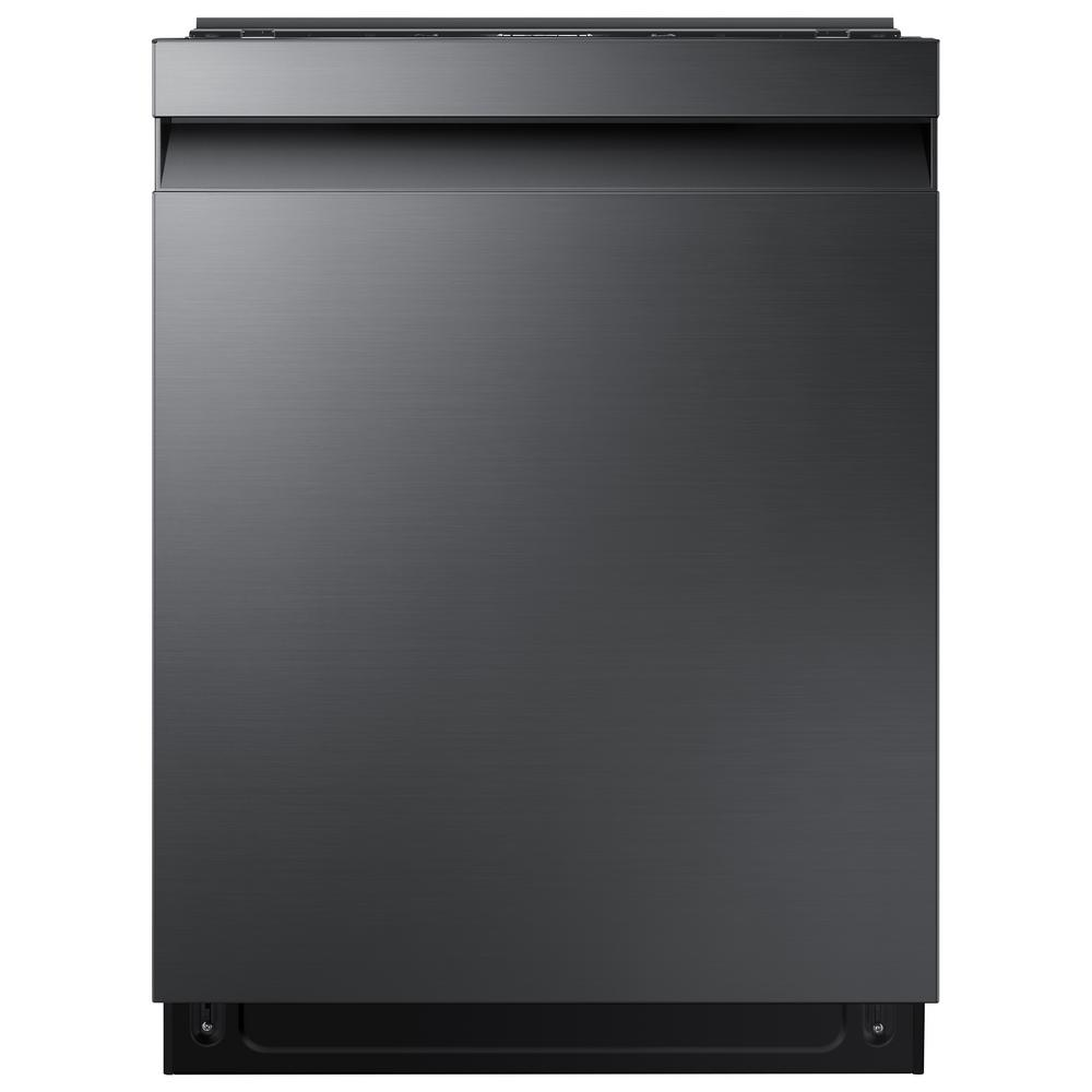 Samsung Samsung 24 in Top Control StormWash Tall Tub Dishwasher in Black Stainless Steel with AutoRelease Dry and 3rd Rack, 42 dBA, Fingerprint Resistant