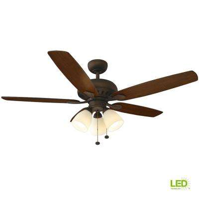 Led Oil Rubbed Bronze Ceiling Fan With Light Kit
