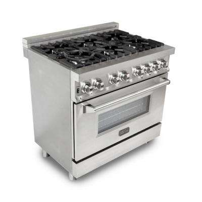 Professional 36 in. 4.6 cu. ft. 6 Gas Burner/Electric Oven Range in Stainless Steel