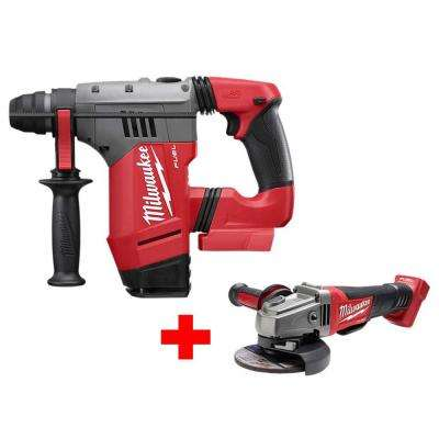 M18 FUEL 18-Volt Lithium-Ion Brushless Cordless 1-1/8 in. SDS-Plus Rotary Hammer W/ Free M18 FUEL Grinder
