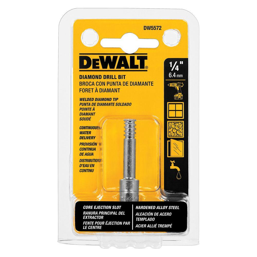 DEWALT In Diamond Drill BitDW The Home Depot - Diamond tip hole saw home depot