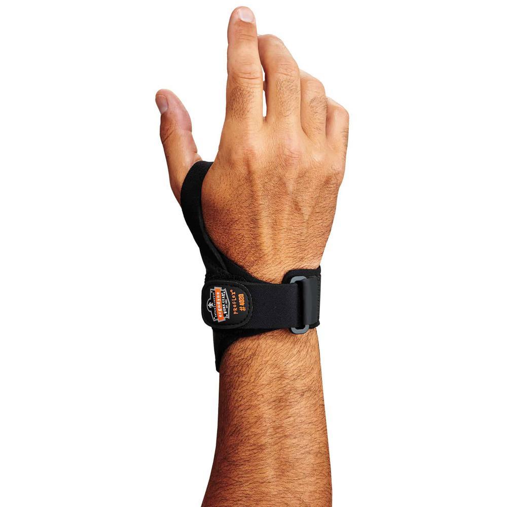 ProFlex 4020 Large/X-Large Right Black Lightweight Wrist Support