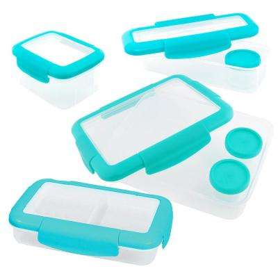 4-Piece Food Storage Container Assorted Pack in Aqua
