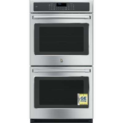 27 in. Double Electric Smart Wall Oven with Convection (Upper Oven) Self-Cleaning and Wi-Fi in Stainless Steel