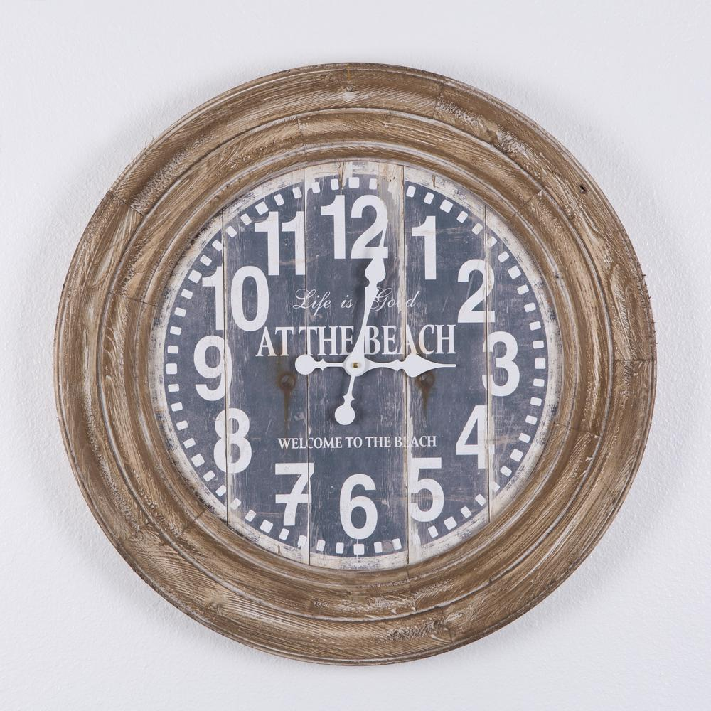 Yosemite home decor life is good distressed brown oversize wall yosemite home decor life is good distressed brown oversize wall clock amipublicfo Gallery