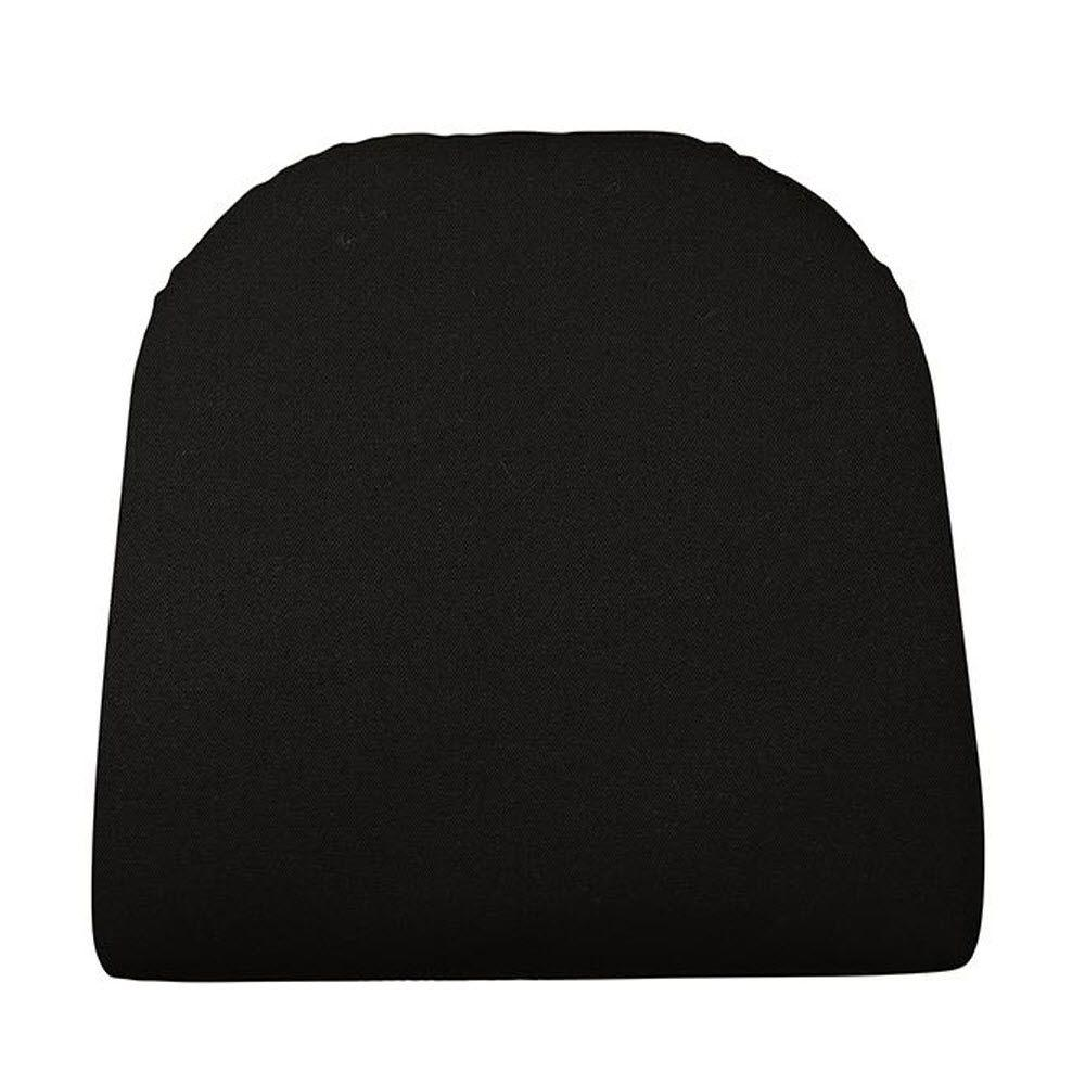 Home Decorators Collection Sunbrella Black Contoured Outdoor Seat Cushion