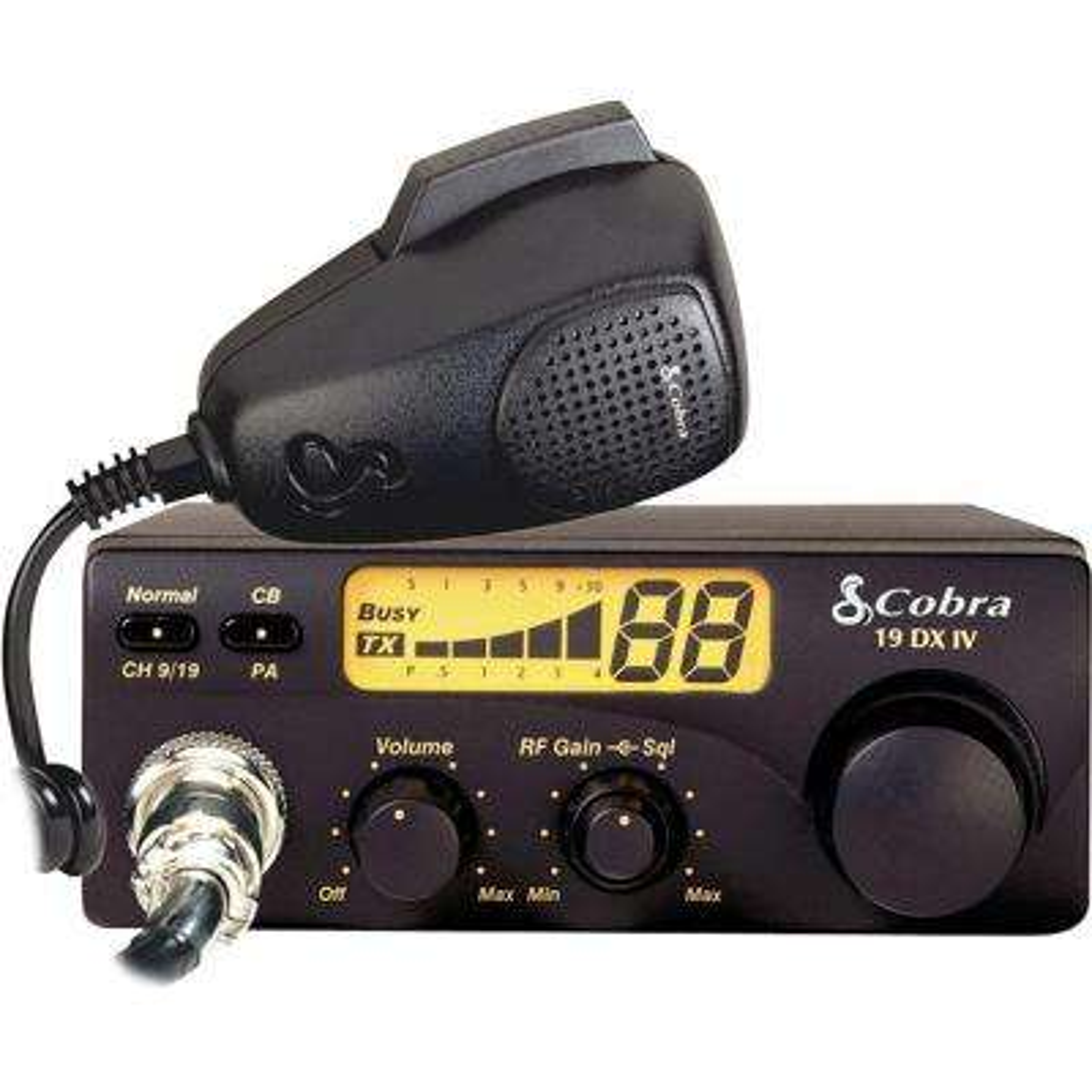 Compact 40-Channel 4-Watt CB Radio with RF Gain