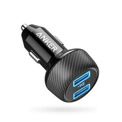 PowerDrive Elite 2 Ultra-Compact 24-Watt Dual Port Car Charger with PowerIQ Technology in Black