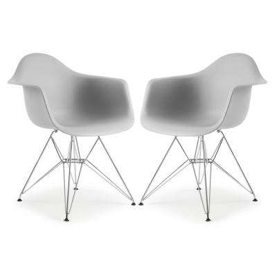 Padget Harbor Grey Arm Chair (Set of 2)