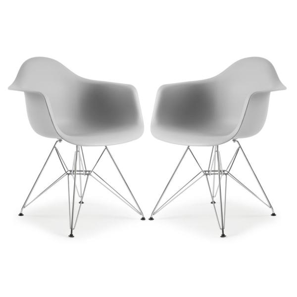 Poly and Bark Padget Harbor Grey Arm Chair (Set of 2)