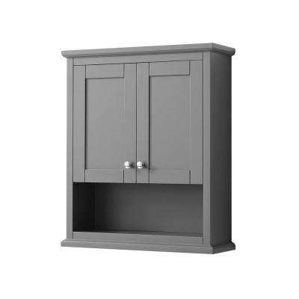 Avery 25 in. W Bathroom Storage Wall Cabinet in Dark Gray