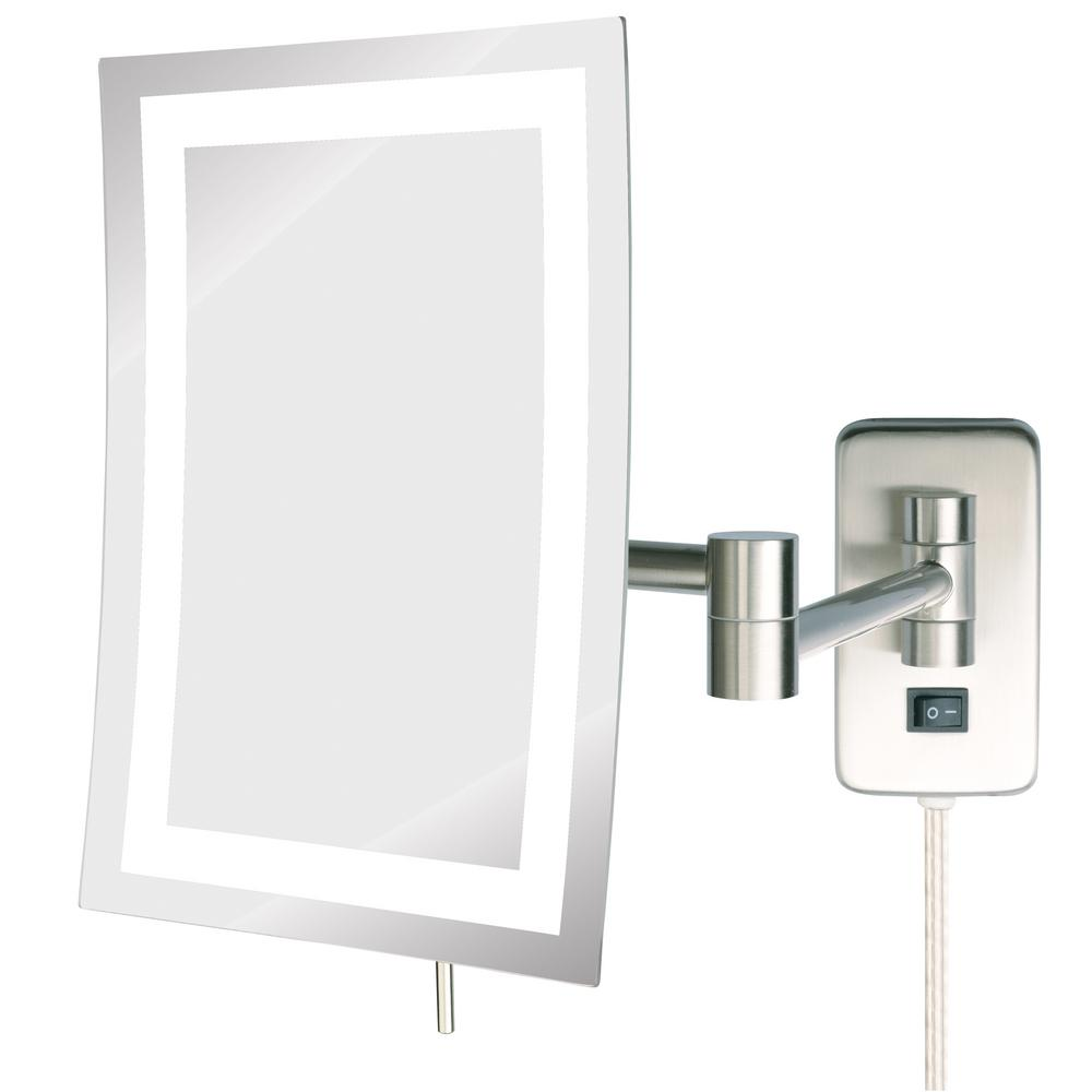 Single Led Lighted Wall Makeup Mirror