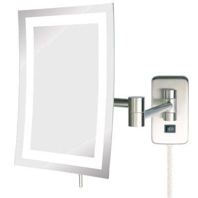 8 in. x 11 in. Single LED Lighted Wall Makeup Mirror