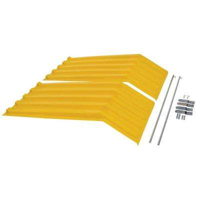 Yellow Poly Lid for Style H Size 100 cu. yd. Hopper