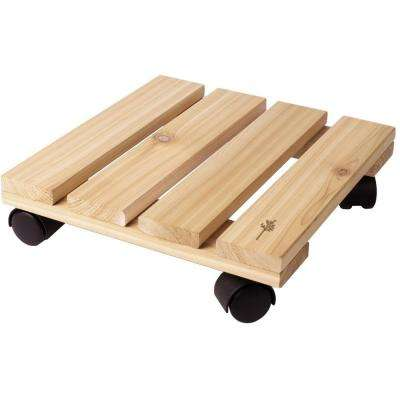 12 in. Cedar Wood Plant Caddy