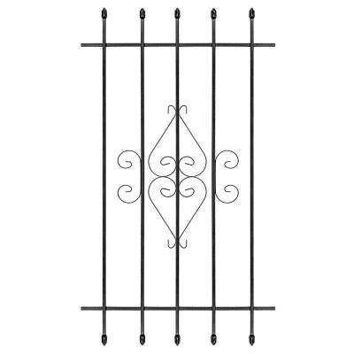 30 in. x 54 in. Su Casa Black 5-Bar Window Guard