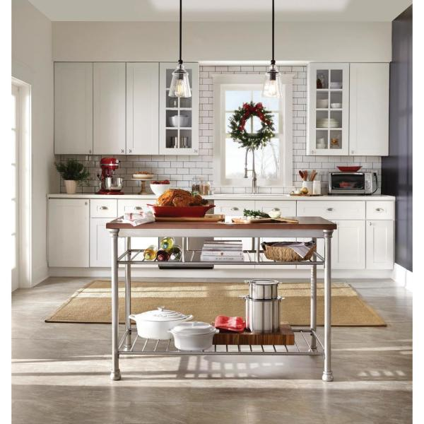 Homestyles The Orleans Vintage Carmel Kitchen Utility Table 5061 94 The Home Depot