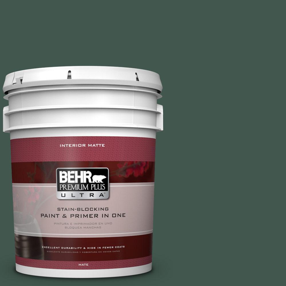 5 gal. #BXC-33 Jolly Green Matte Interior Paint