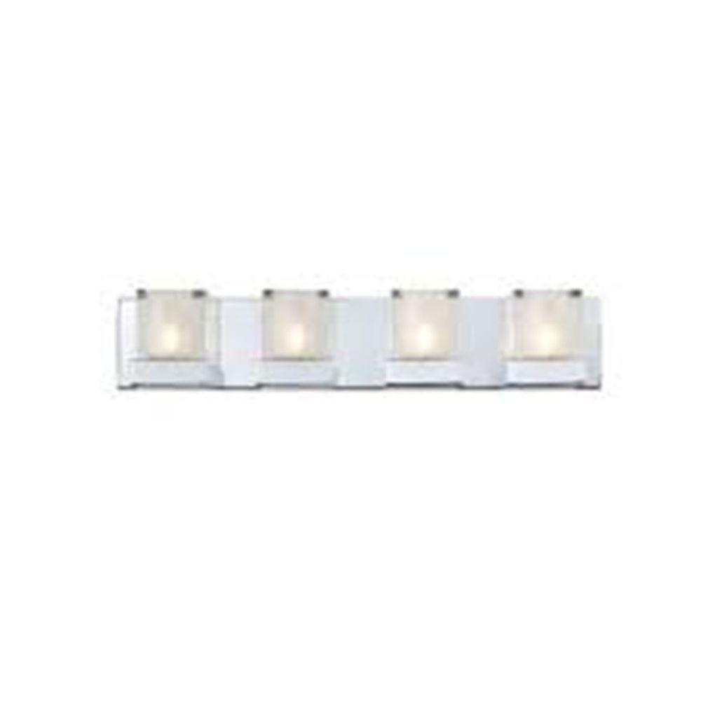 Filament Design Lawrence 4-Light Chrome Halogen Bath Vanity Light