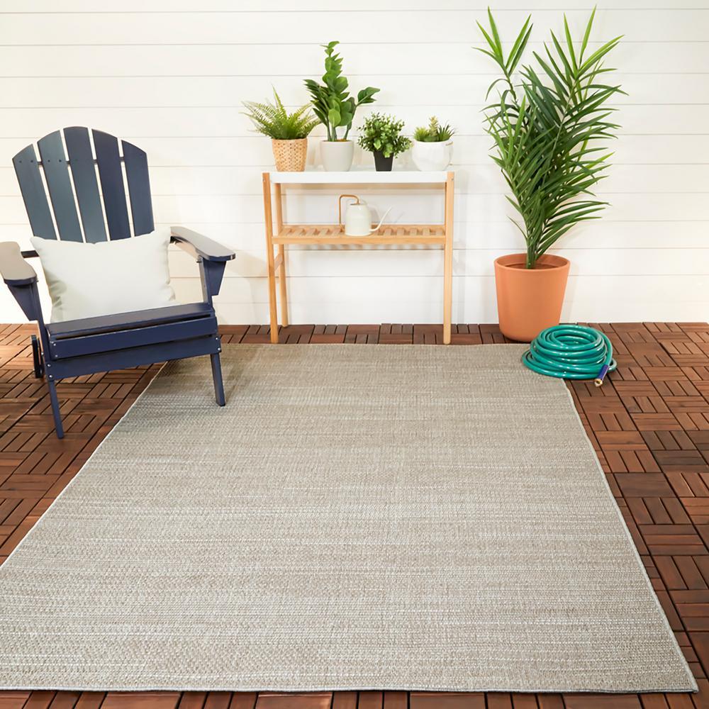 Woven Rope Cream 9 ft. x 12 ft. Indoor/Outdoor Area Rug