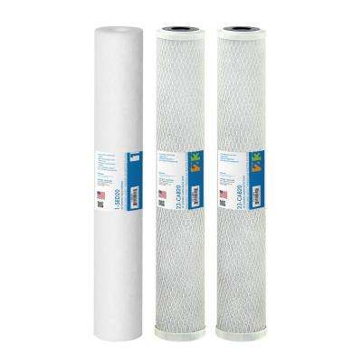 Ultimate 20 in. Replacement Pre-Filters for Lite Commercial RO Systems - 180, 240, 360 GPD Models