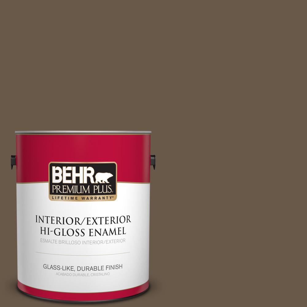 1 gal. #PPU7-25 Clove Brown Hi-Gloss Enamel Interior/Exterior Paint