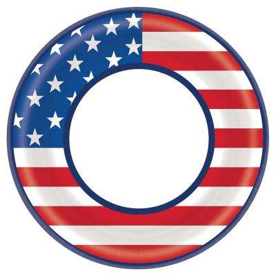 8.5 in. x 8.5 in. Star Spangled Celebration Round Plates (40-Count, 4-Pack)