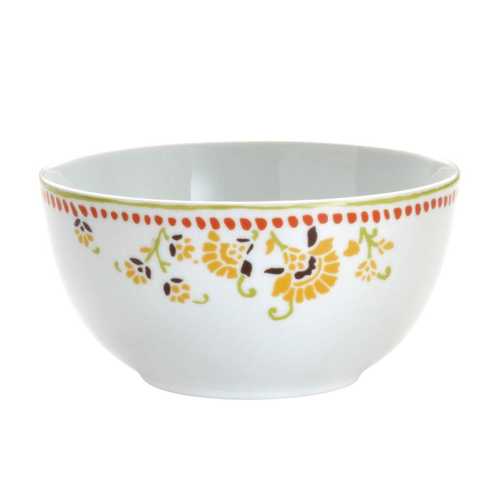 Rachael Ray Paisley 4-Piece Cereal Bowl Set