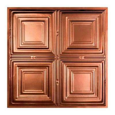 Syracuse 2 ft. x 2 ft. Lay-in Tin Ceiling Tile in Vintage Bronze
