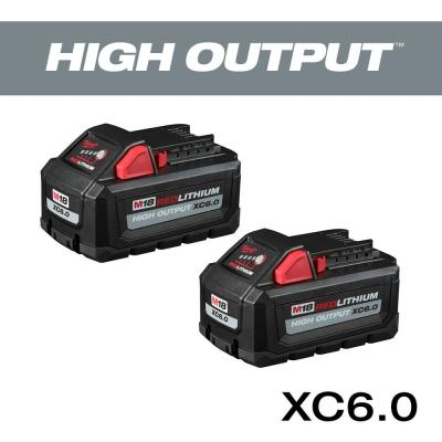 M18 18-Volt Lithium-Ion High Output 6.0Ah Battery Pack  (2-Pack)
