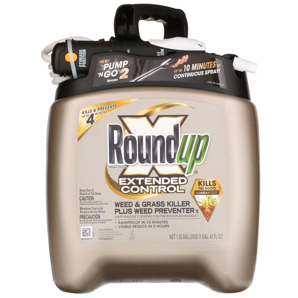 Roundup 1.33 Gal. Read-to-Use Pump 'N Go Extended Control Weed and Grass Killer