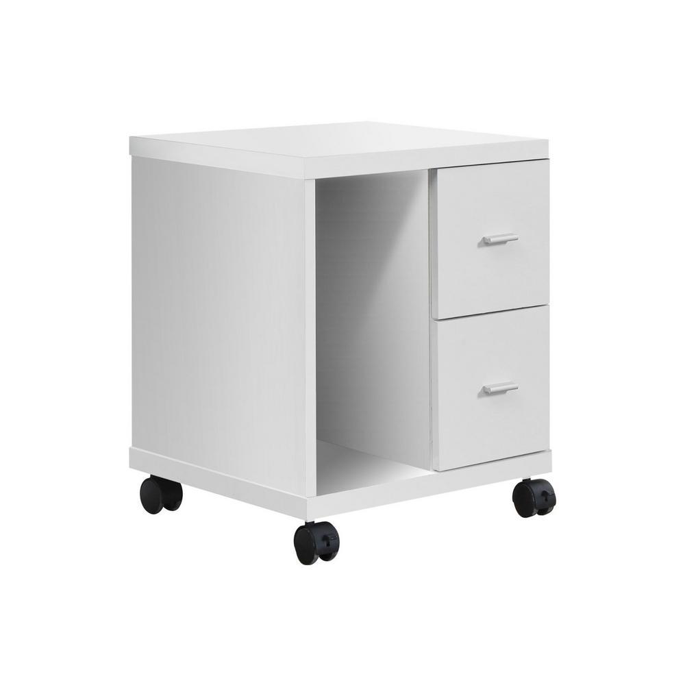 Jasmine 1-Piece White Filing Cabinet