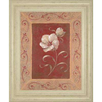 "22 in. x 26 in. ""Amanda's Hibiscus"" by Vivian Flasch Framed Printed Wall Art"