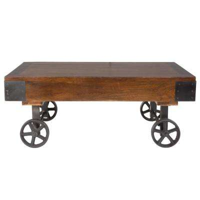 Lobam Brown Cart Coffee Table