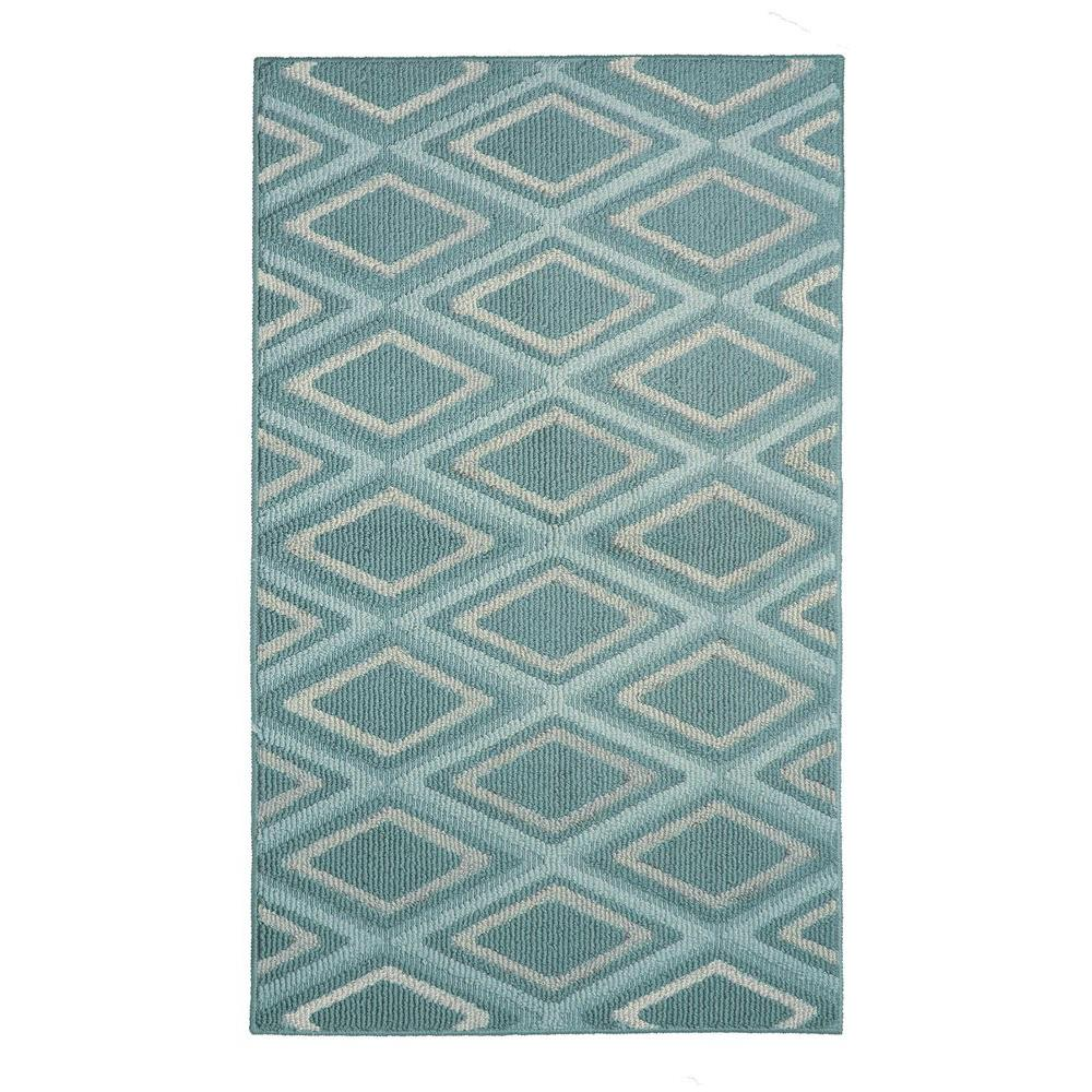 Sean Mineral Blue 2 ft. 4 in. x 4 ft. Accent