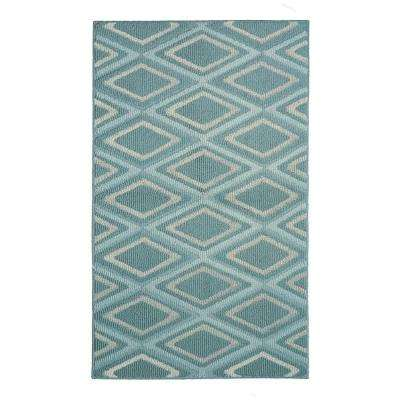 Sean Mineral Blue 2 ft. x 4 ft. Area Rug