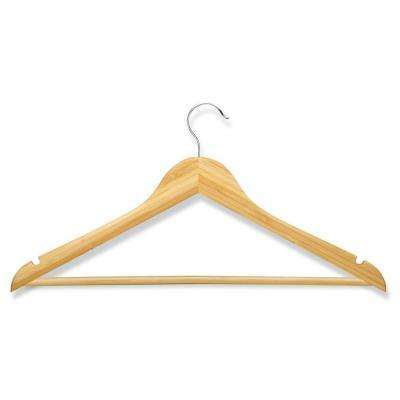 Bamboo Wood Suit Hangers (8-Pack)