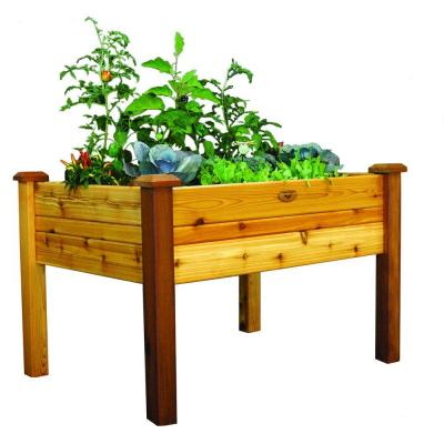 34 in. x 48 in. x 32 in. Safe Finish Raised Garden Bed