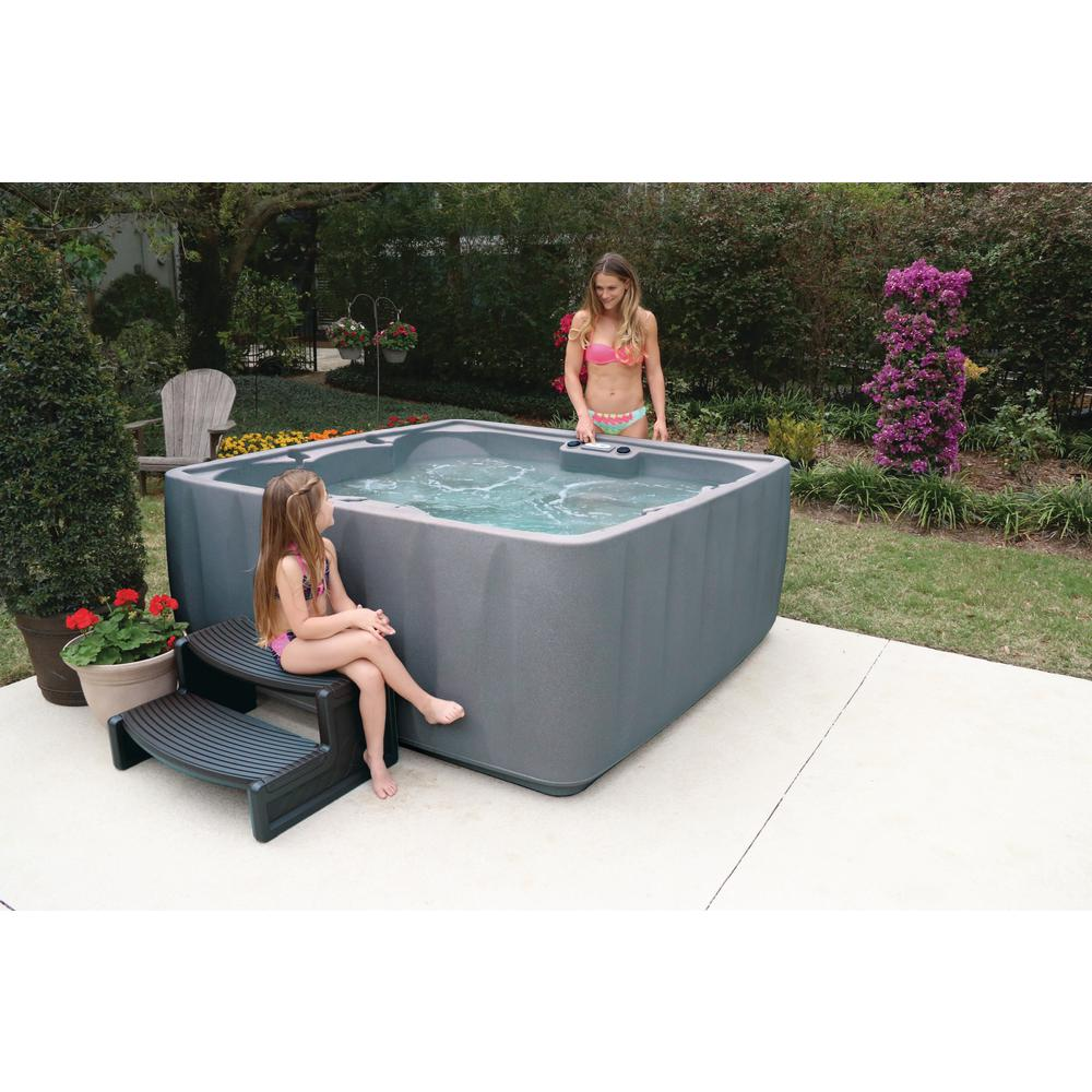 AquaRest Spas Premium 600 6-Person Plug and Play Hot Tub with 29 ...