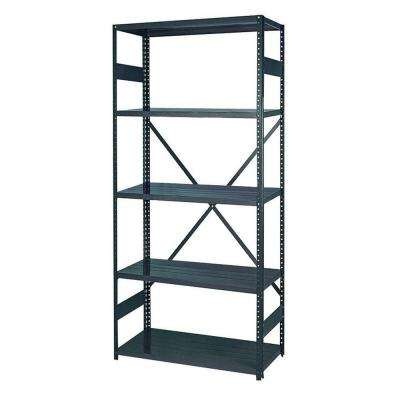 75 in. H x 36 in. W x 18 in. D 5-Shelf Steel Commercial Shelving Unit in Gray