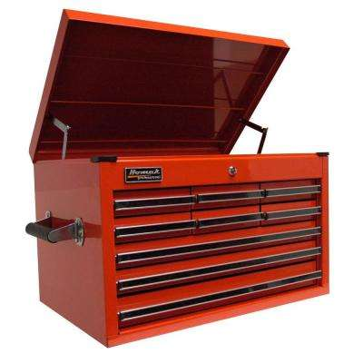 Professional 27 in. 9-Drawer Extended Top Chest, Red
