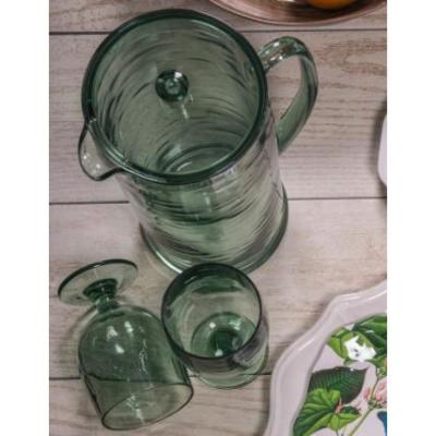 78 oz. Cordoba Green Pitcher with Lid Recycled (Set of 1)