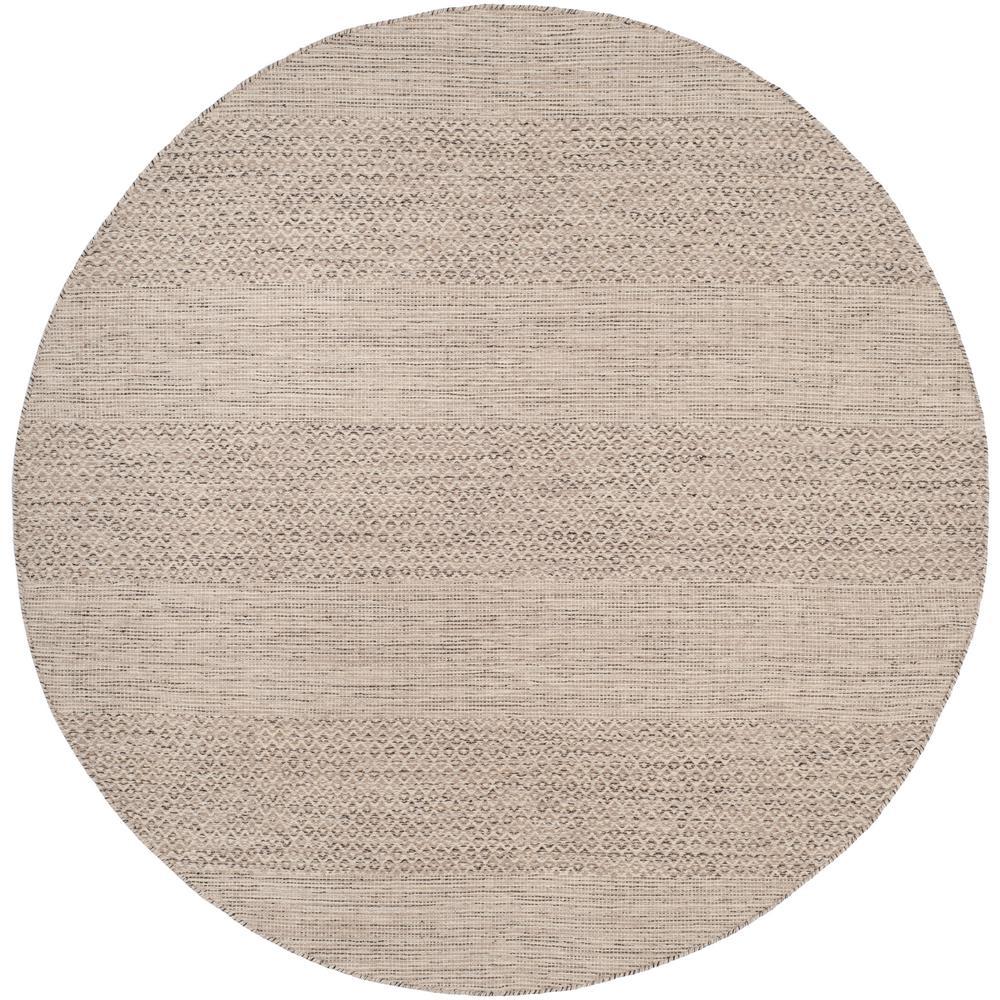 Montauk Ivory/Steel Gray 4 ft. x 4 ft. Round Area Rug