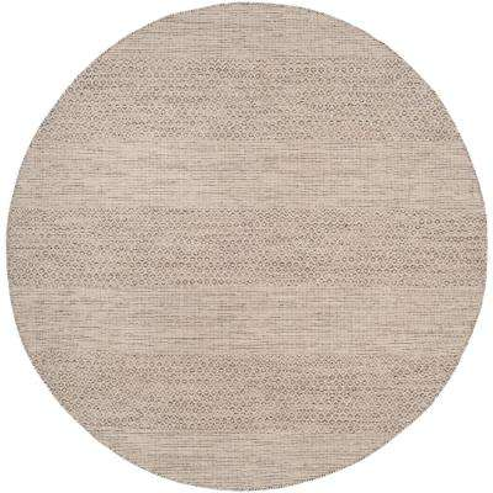Montauk Ivory/Steel Gray 6 ft. x 6 ft. Round Area Rug