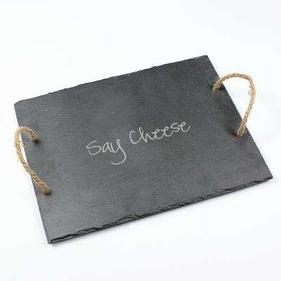 Say Cheese 15.5 in. x 12 in. x .25 in. Slate Tray