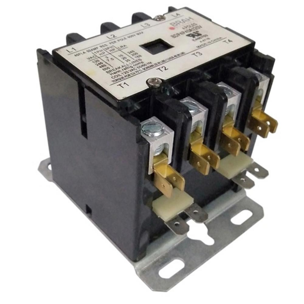 connecticut electric 40 amp 4-phases 240-volt coil 600-volt max definite  purpose contactor-bebdp4p40a240v - the home depot  the home depot