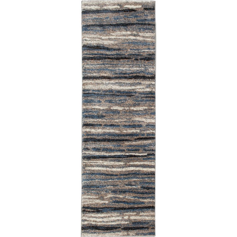Shoreline Blue/Multi 2 ft. x 7 ft. Striped Runner Rug